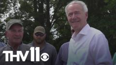 Cover for Governor Hutchinson visits flooded areas in southeast Arkansas