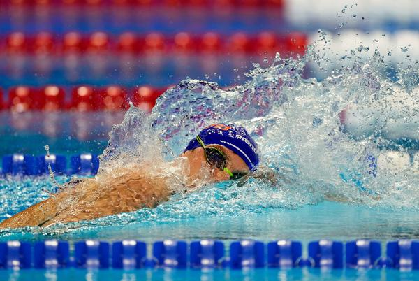 Picture for American Bobby Finke wins Olympic gold medal in men's 1,500-meter freestyle