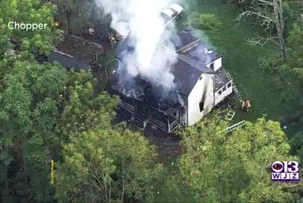 Picture for Carrol County Fire Leaves Two-Story Home Engulfed In Flames