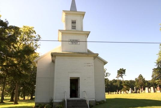 Picture for Darke County historical church closed since 1905 welcoming people for homecoming service