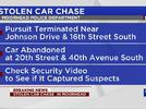 Picture for Police chase stolen car, still searching for suspects