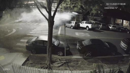 Long Beach Dui Suspect Sent Flying After Crash Into Traffic Circle Caught On Camera News Break