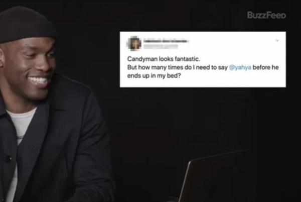 Picture for 'Candyman' Star Yahya Abdul-Mateen II Reading Thirst Tweets Has Us Hollering