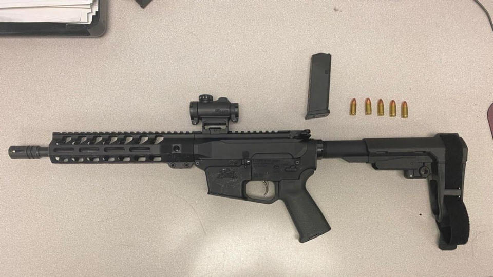 Picture for Officers Locate Gun Inside Vehicle During Brooklyn Park Traffic Stop; 23 Year Old Man From Glen Burnie Arrested
