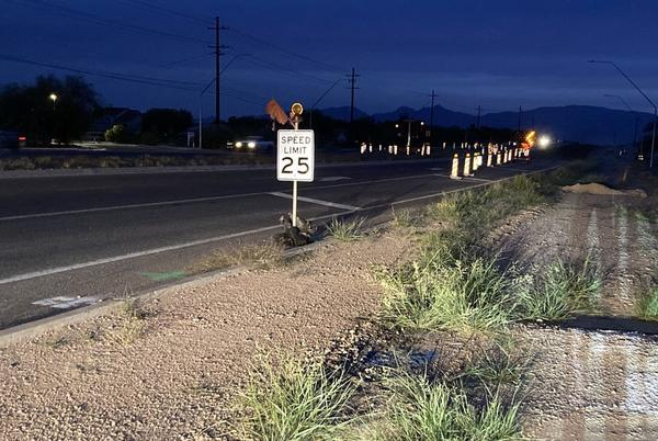 Picture for Speeding drivers slowing construction along Houghton Road Corridor Project
