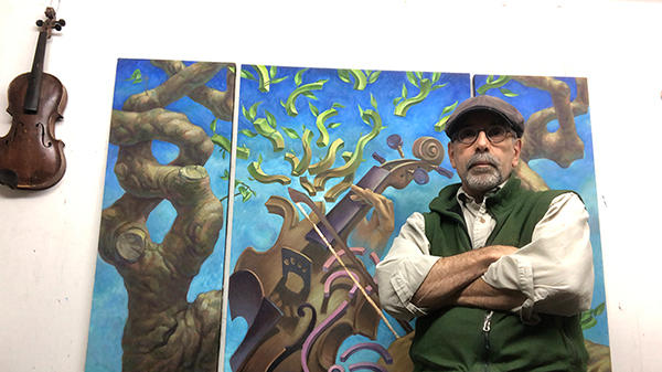 Cover for This Boston-area artist reopened the door to his original passion when the pandemic slowed his commercial work down.
