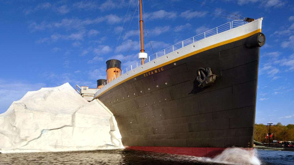 Picture for Visitors to US Titanic museum injured by replica iceberg