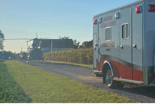 Picture for One person hurt after motorcycle crash in Buffalo County