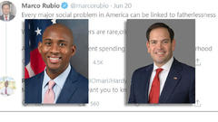 Cover for Omari Hardy calls Marco Rubio a clown over Father's Day tweet