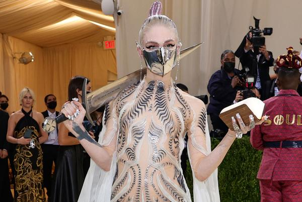 Picture for Grimes' 'Dune'-Inspired Met Gala Look Included a Sword Made From an AR-15