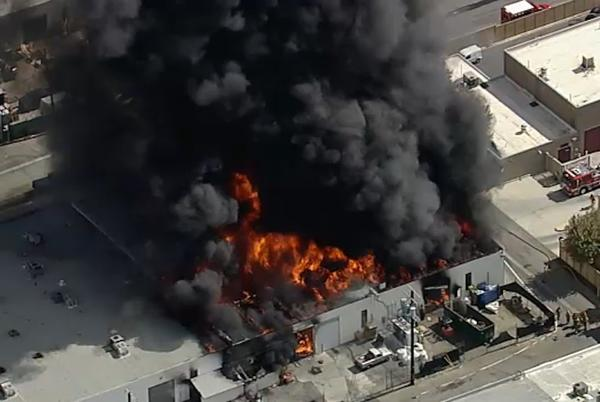Picture for 3 injured in fire at Canoga Park marijuana grow operation