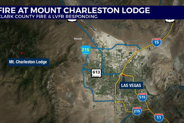 Picture for Mt. Charleston Lodge 'pretty much gone' after early morning fire