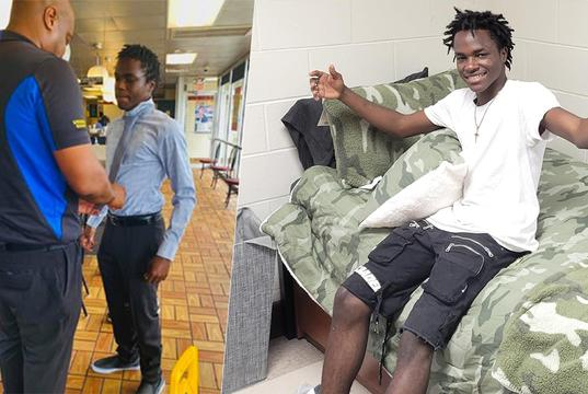 Picture for Waffle House employee, who graduated high school with help from coworkers, moves into college dorm