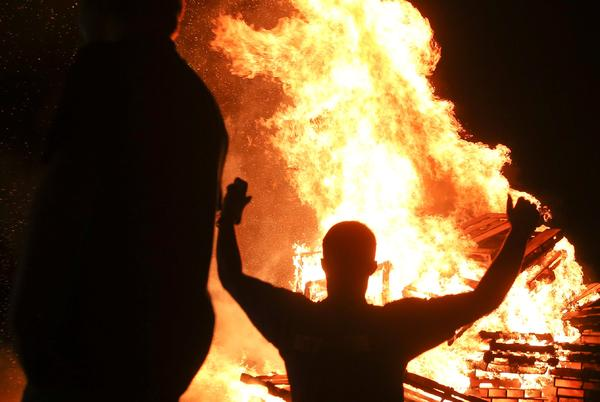 Picture for Wildcat formation: Tuscaloosa County High School holds homecoming parade, pep rally and bonfire