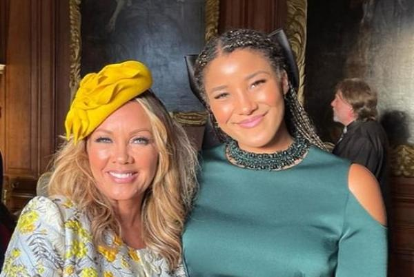 Picture for Vanessa Williams attends the VERY lavish wedding of US designer Pamella Roland's daughter Cassie at Princess Diana's childhood home Althorp - complete with stunning floral displays, sparklers and a lobster banquet