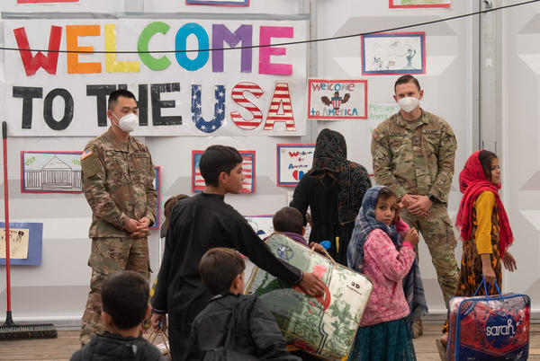 Picture for Afghan evacuees start to leave U.S. military sites as part of new resettlement phase