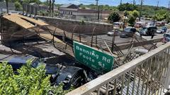 Cover for 4 transported after pedestrian bridge collapses in Northeast DC