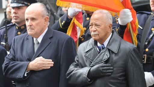 0yyqyvp aeeycm https www newsbreak com new york brooklyn news 2108606696183 rudy giuliani honors david dinkins in death but led racist rally against him in office