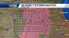 Cover for Tornado warning issued in Mahaska, Marion Iowa counties
