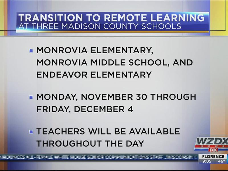 Huntsville City Schools Calendar 2022 23.Covid 19 Forces Three Madison County Schools To Transition To 100 Remote Learning News Break