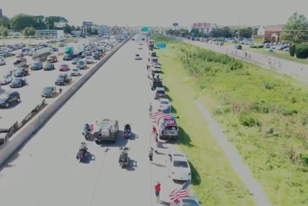Picture for How to safely respect, honor fallen Marine Jared Schmitz during funeral procession today