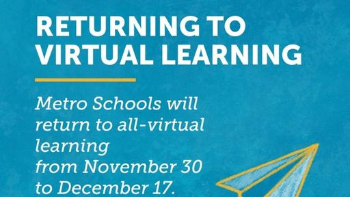 Metro Nashville Schools Returning to All Virtual Learning After