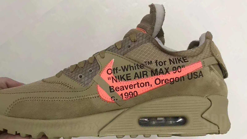 Take A First Look At The Off White X Nike Air Max 90 Desert Ore