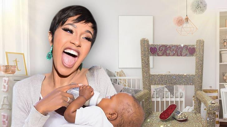 Cardi B S Baby Kulture Gets Blinged Out Chair And Shoes News Break